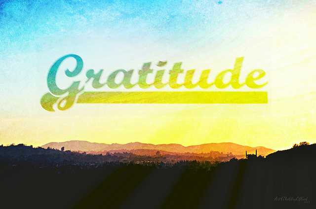 An Attitude of Gratitude (It's Not Just For Thanksgiving)