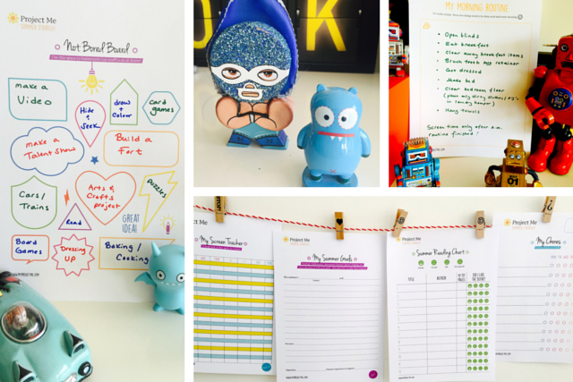 Free printable summer planners for parents and kids
