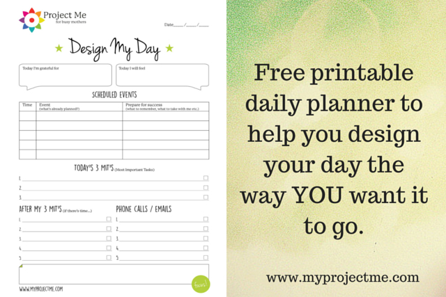 Printable Day Planner To Help You Design Your Day