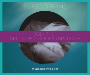 the Get To Bed Earlier Challenge to help you keep a dream journal