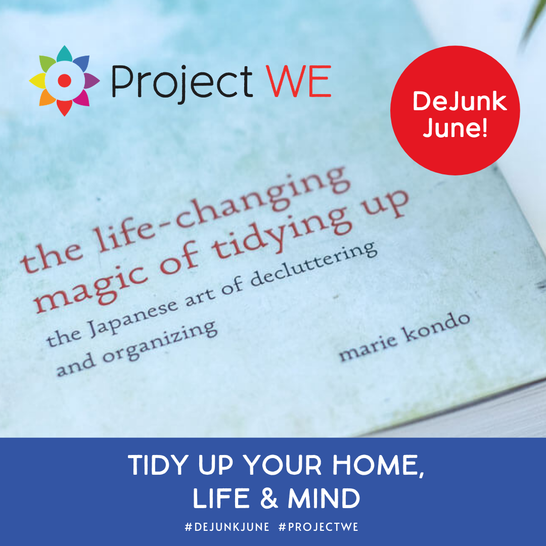 Join the dejunk June challenge by Kelly Pietrangeli of Project Me Marie Kondo style